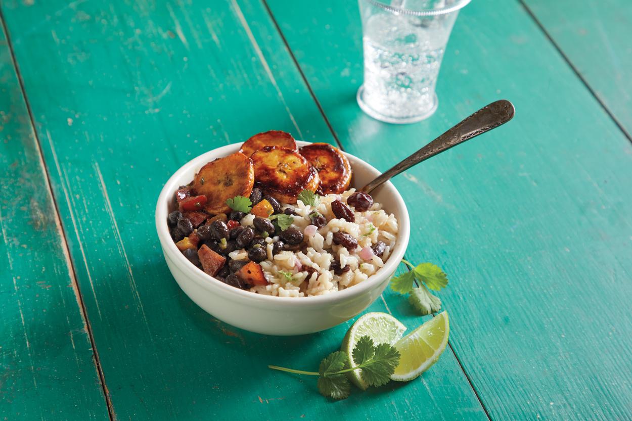 Cuban Rice, Beans and Raisins