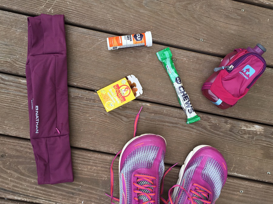 Objects and foods associated with running