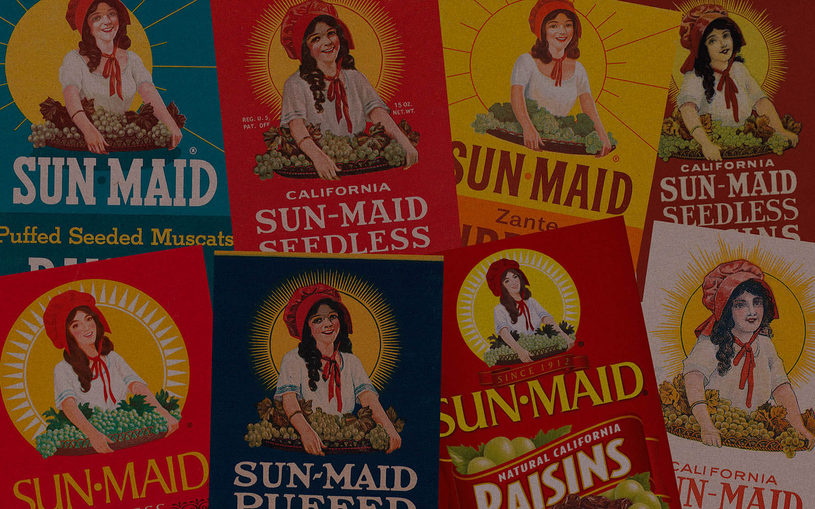 Sun-Maid labels